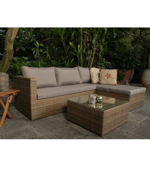 rattan lounge set malibu natur. Black Bedroom Furniture Sets. Home Design Ideas