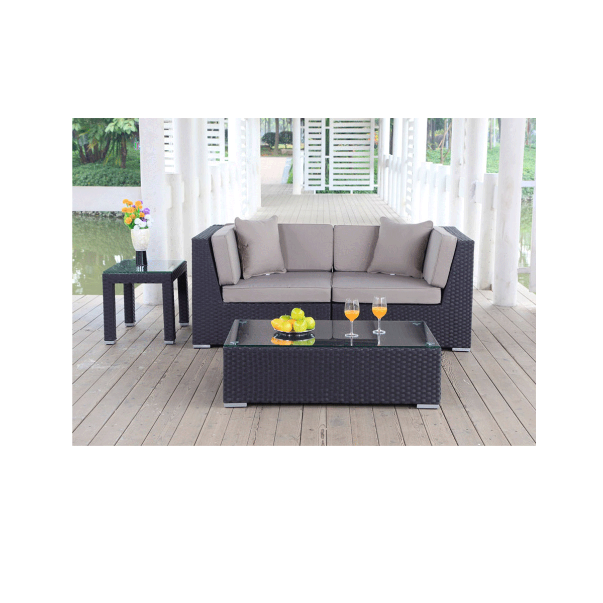 rattan lounge programm meridian. Black Bedroom Furniture Sets. Home Design Ideas