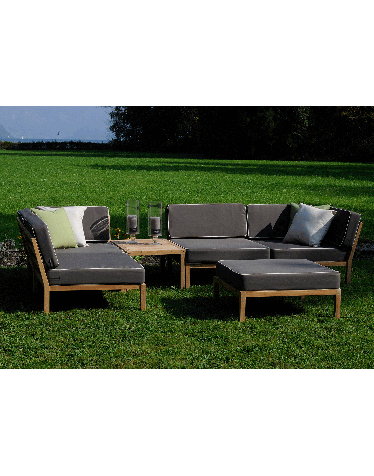 teak gartenlounge horizon. Black Bedroom Furniture Sets. Home Design Ideas