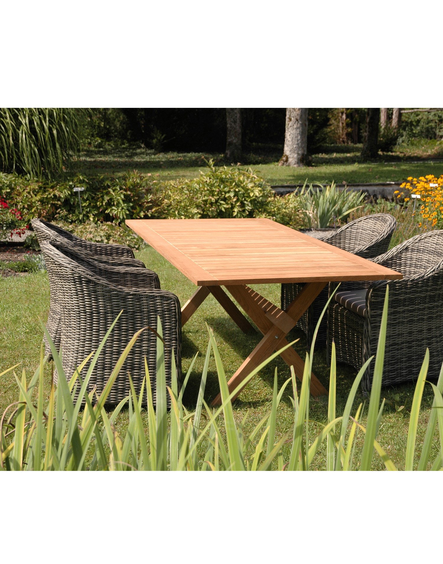 teak gartentisch x table. Black Bedroom Furniture Sets. Home Design Ideas