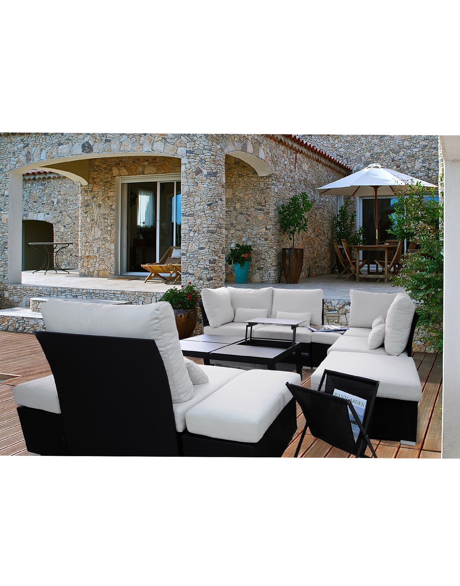 Garten lounge delounge aus textilene - Lounge gartenmobel reduziert ...
