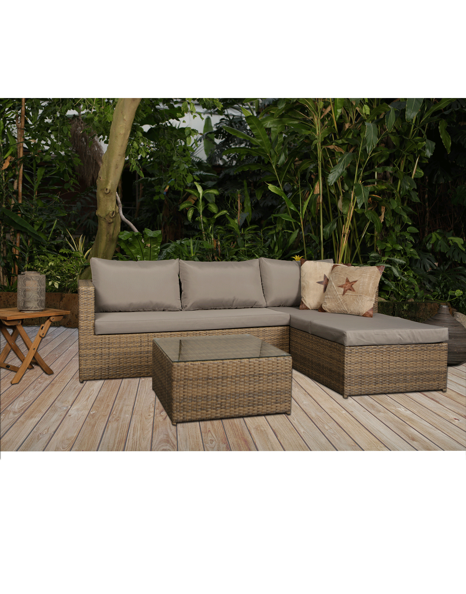 Rattan lounge set malibu top aktion for Lounge gartenmobel rattan