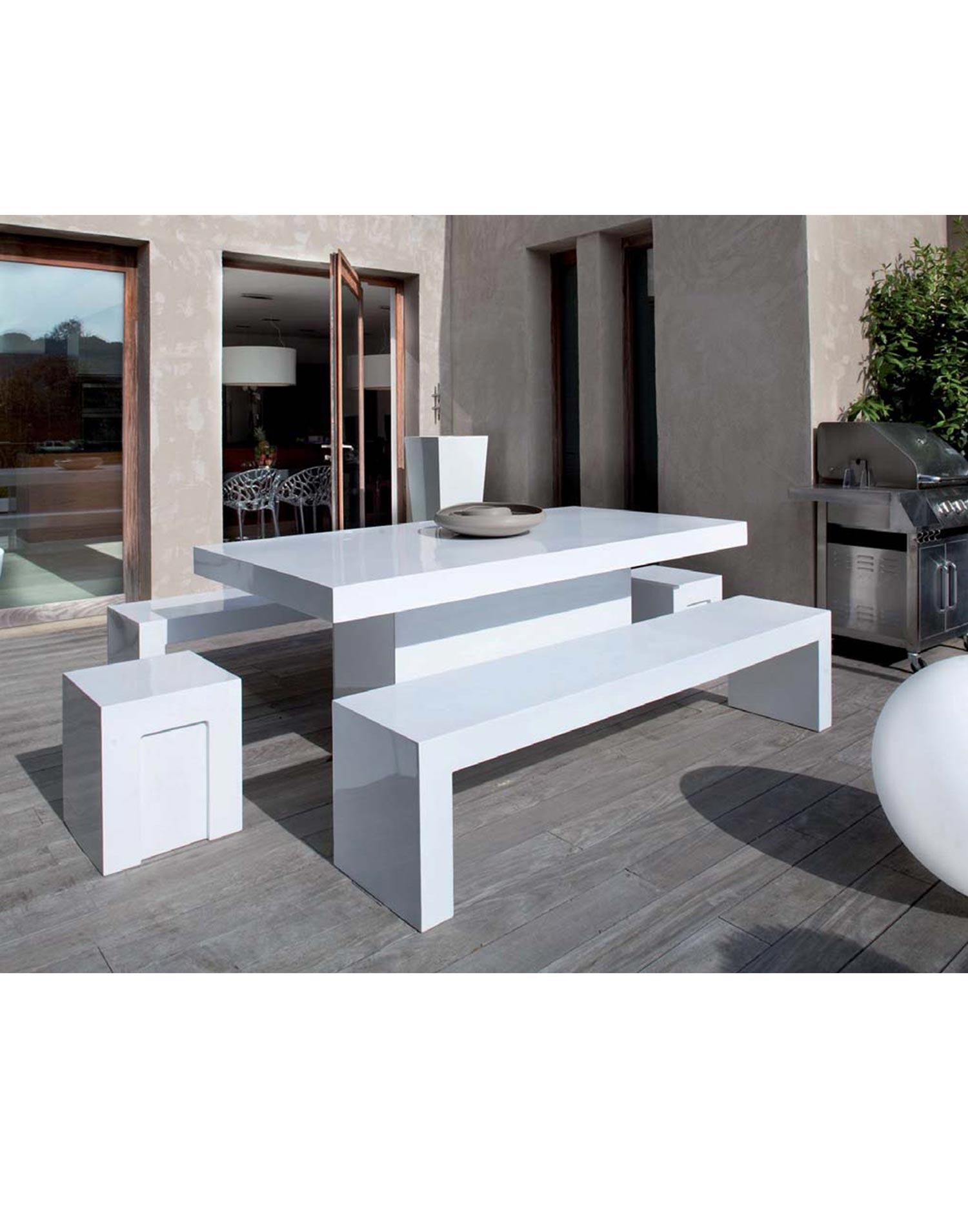 gartenm bel set stone fiber xl. Black Bedroom Furniture Sets. Home Design Ideas