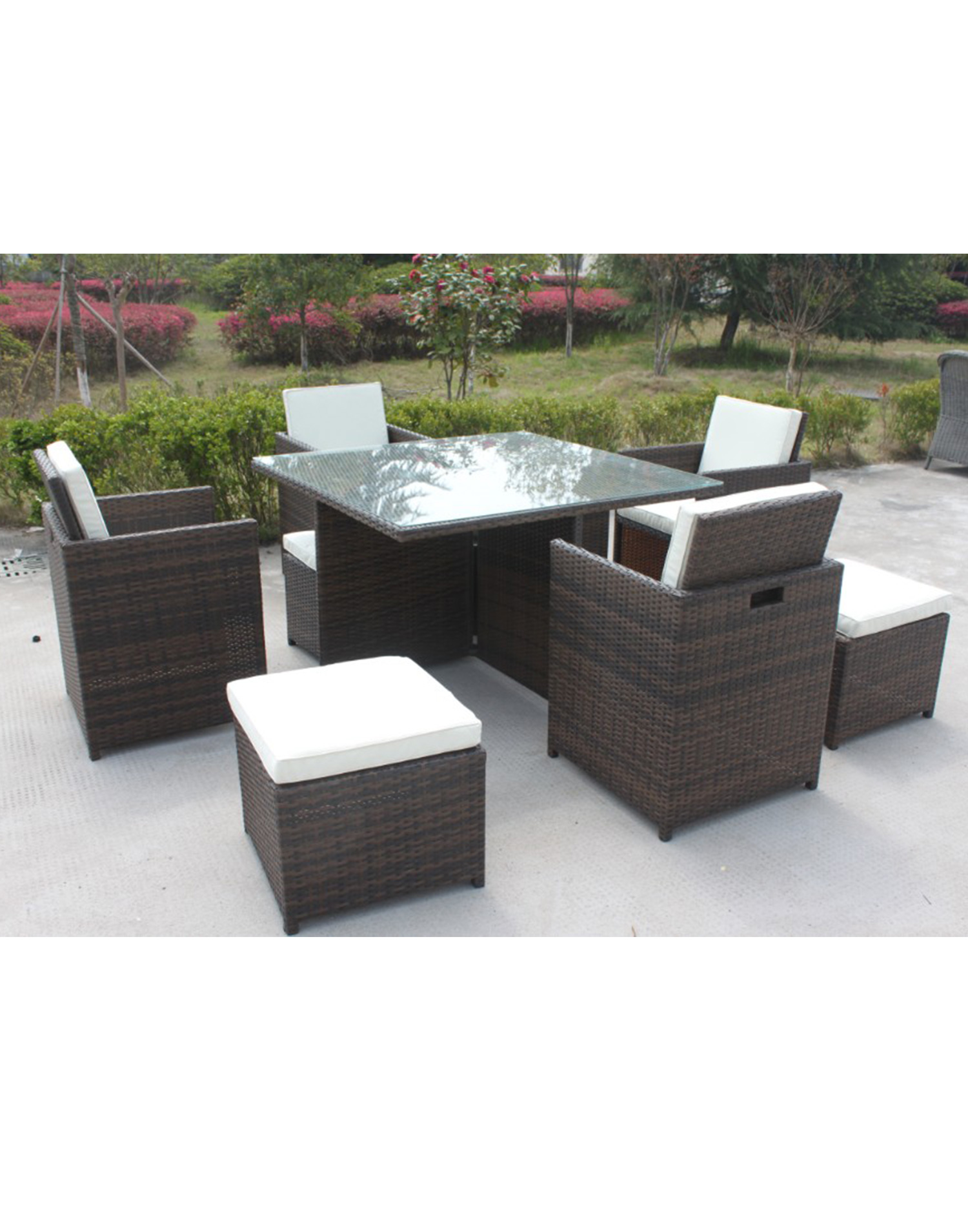 cube dining rattan gartenmoebel set. Black Bedroom Furniture Sets. Home Design Ideas