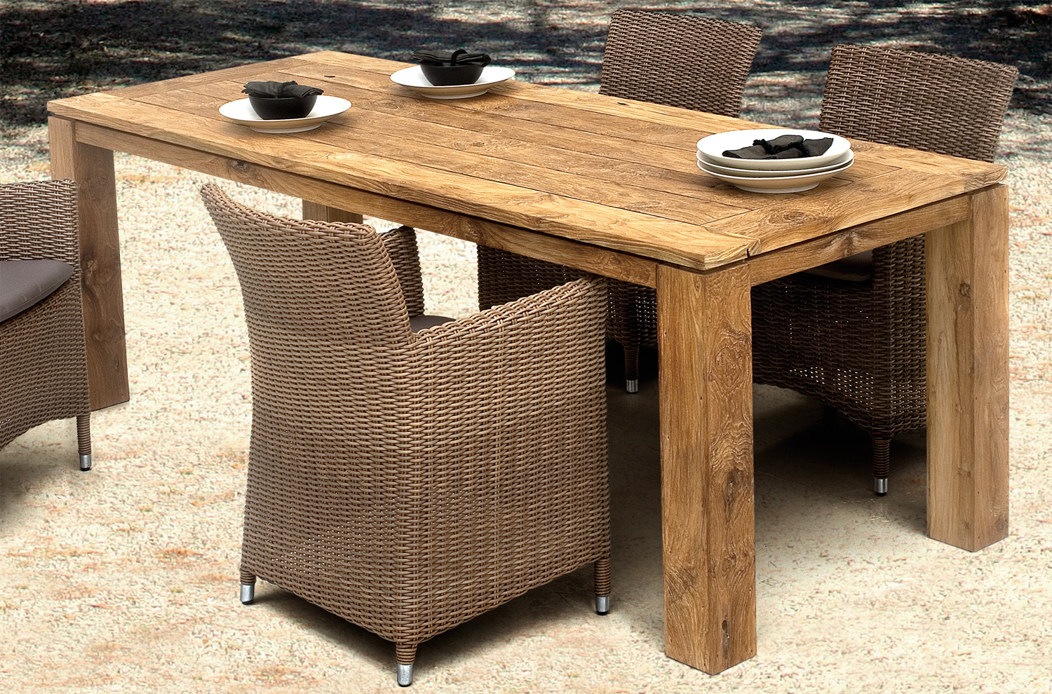 teakholz gartentisch captains table. Black Bedroom Furniture Sets. Home Design Ideas