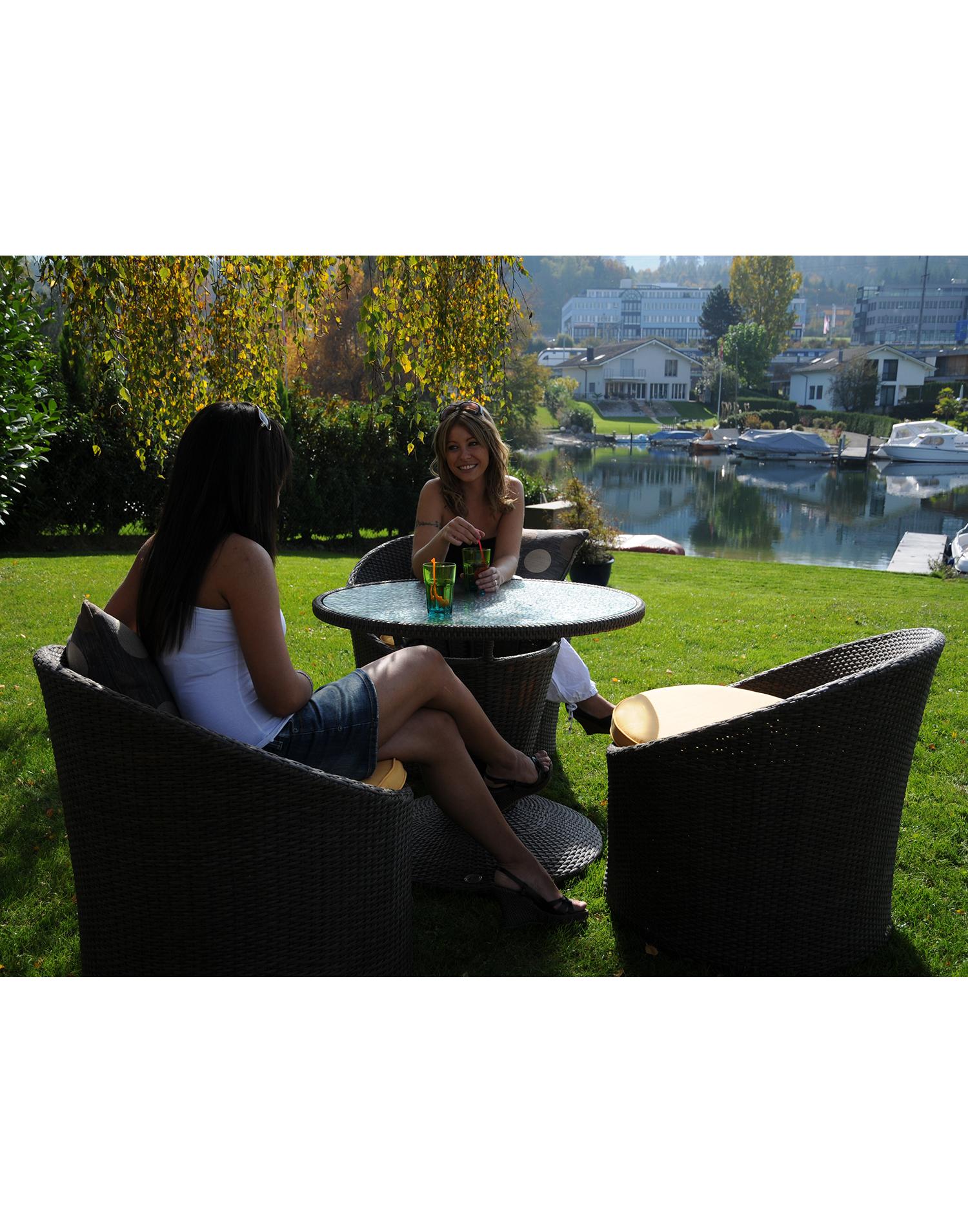 Hofer Prospekt Gartenmobel : Lounge Set Valencia Kunstrattan  teaklandch