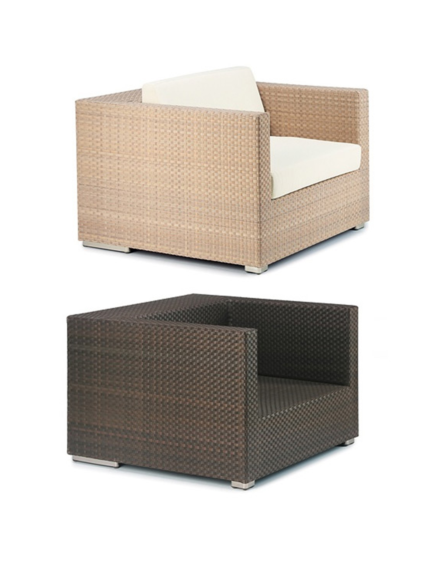 Rattan lounge elemente g nstig for Lounge set rattan gunstig