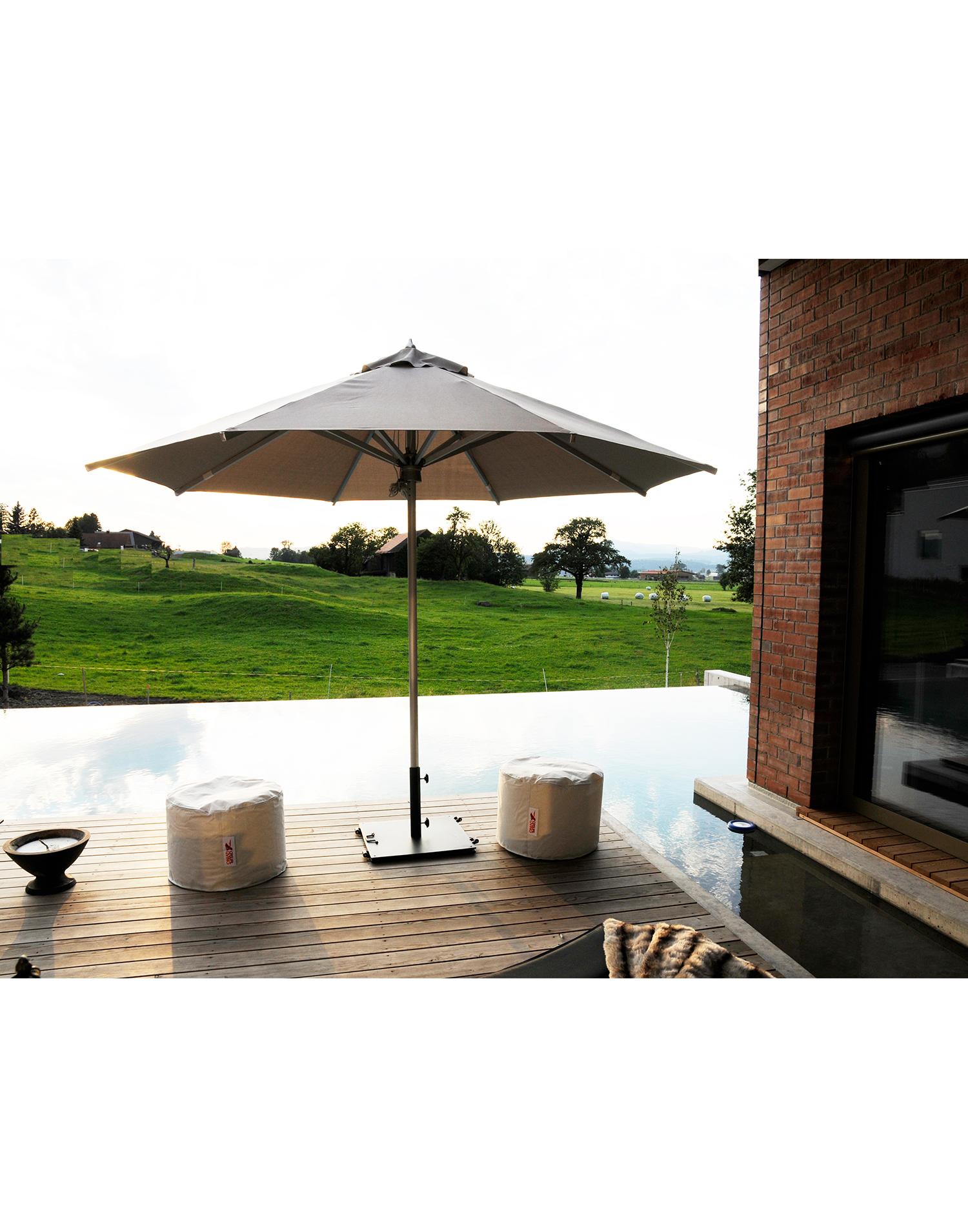 sonnenschirm aluminium 330cm. Black Bedroom Furniture Sets. Home Design Ideas