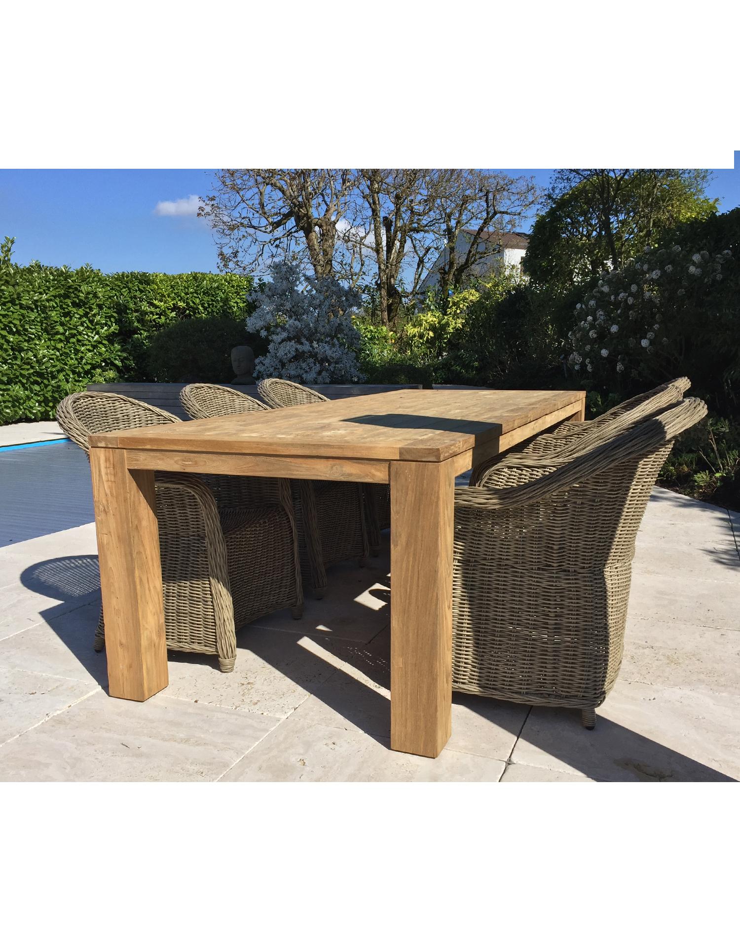 teakholz tisch recycling teak captains table. Black Bedroom Furniture Sets. Home Design Ideas